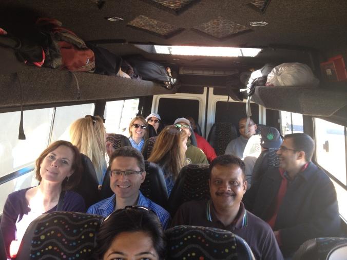 A cozy bus trip