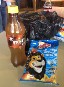 Local brands of snacks - Ginger Beer is just as common as coke!