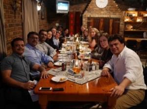 The IBM team, the Professor and Daniel