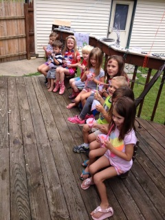 Kelsey organized a carnival with her other nanny friends - a HUGE hit!