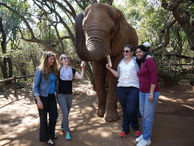Effie, Katy, Paola and Aruna