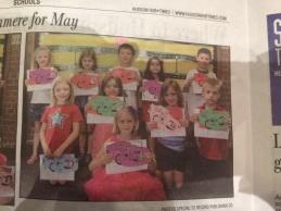 Lauren made the paper for Auto B Good award! (Top L corner)